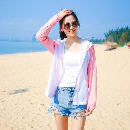韩誉  UPF50防晒衣女夏季新款韩版透气长袖防晒服衫短款薄外套67039-2