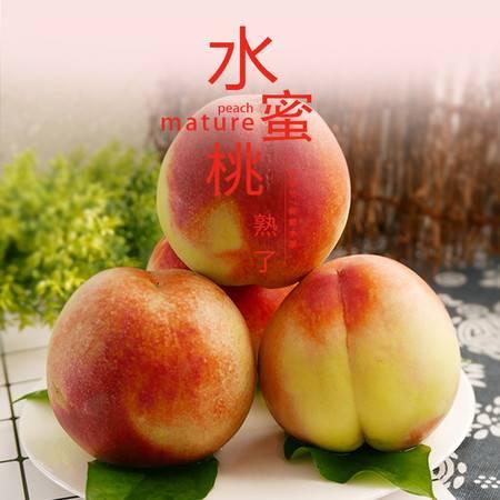农家自产  水蜜桃新鲜水果4斤应季大红毛桃子非硬油桃