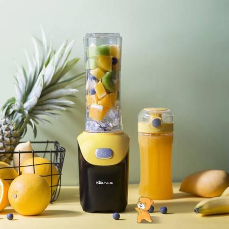 小熊(Bear) 榨汁机 双杯迷你家用果汁机便携式多功能料理杯果汁杯搅拌机 LLJ-D06D2