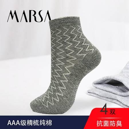MARSA 男士波浪休闲袜