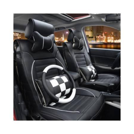 Racing格调竹碳皮四季汽车坐垫座套 豪华座垫 汽车用品