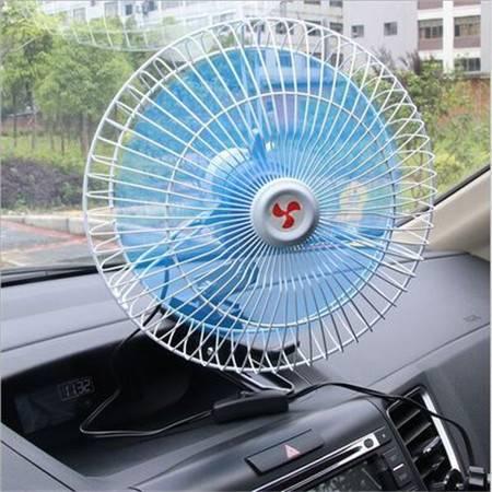 【淄博馆】12V/24V汽车载用电风扇 金属可调速可摇头 夏季电风扇