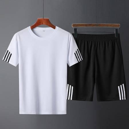 套装夏季短袖短裤短袖套装潮流三条杠套装