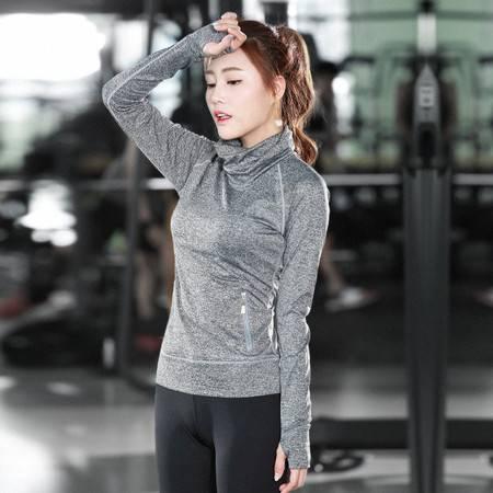 韵格c04新款瑜伽服女运动速干弹力紧身健身服女长袖运动T恤秋冬