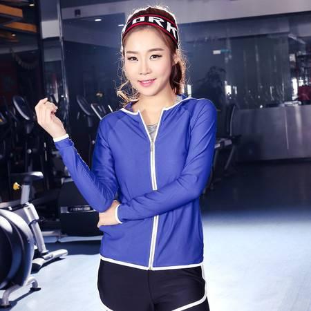 包邮韵格T1001晨跑运动衣网眼透气连帽健身服女春宽松长袖瑜伽服上衣外套