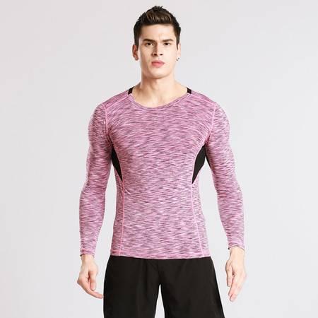 包邮韵格NT1034新款运动紧身衣弹力压缩跑步健身服男士速干长袖T恤