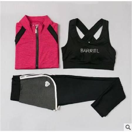 韵格秋冬瑜伽服女三件套运动健身套装跑步衣女T1068