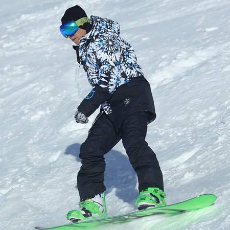 探路者/TOREAD 秋冬款户外男式防泼水印花单板滑雪服HAHF91163