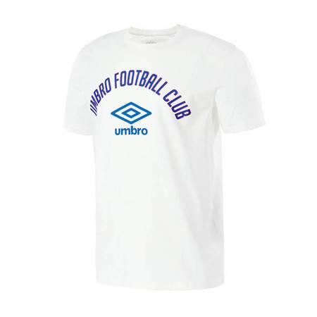 茵宝Umbro茵宝新款男子运动T恤白色足球训练短袖体恤UO182AP2507