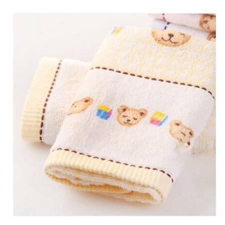金号 T1053毛巾 提缎小熊可爱童巾 儿童面巾宝宝小毛巾 一条装
