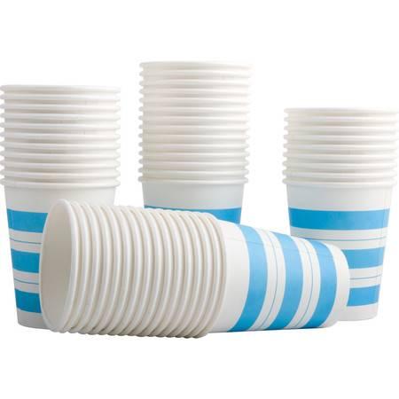 得力/DELI 9560一次性经济纸杯50只装加厚家用办公室水杯商务杯250ml