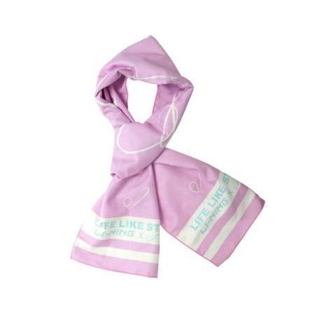 李宁女士运动围巾时尚针织温暖运动生活系列
