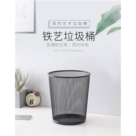 铁网垃圾桶家用办公室垃圾桶厨房客厅卫生间垃圾筒铁丝网加厚无盖纸篓