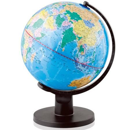 得力 3034大号地球仪摆件学生地理教学用品直径25cm