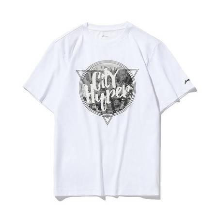 李宁/LI NING 短袖T恤男士2020新款运动时尚圆领上衣夏季休闲运动服AHSQ743