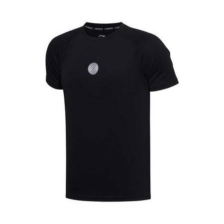 李宁短袖男子2020夏季新款透气速干圆领套头T恤ATSQ307