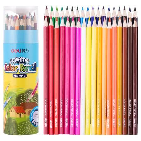 得力优酷7015彩色铅笔(混)(36支/桶)
