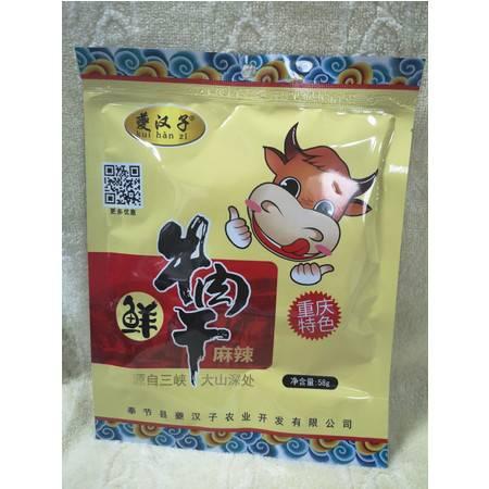 奉节县夔汉子鲜牛肉干58g袋装(麻辣味)