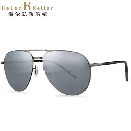 海伦凯勒太阳镜时尚绅士款蛤蟆镜都市墨镜男款H8660