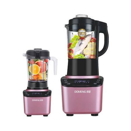 多蒙(DOMENG)榨汁机破壁机料理机家用加热全自动多功能养生豆浆辅食机LM-398H双杯