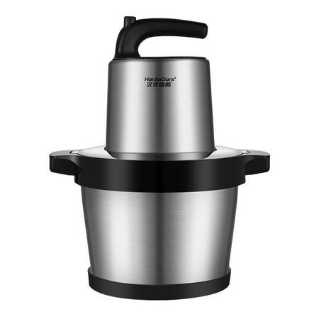 汉佳欧斯 绞肉机6L家用多功能不锈钢辅食机绞馅料理机商用搅肉机搅拌机双刀碎肉机PY-8960