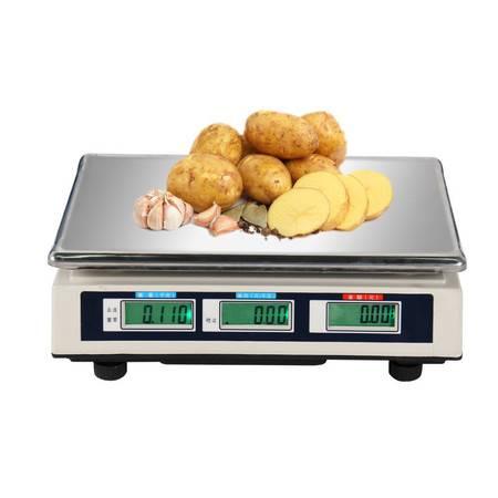 拜杰HJ-3018厨房电子计价称计数秤电子称充电卖菜秤克称水果秤