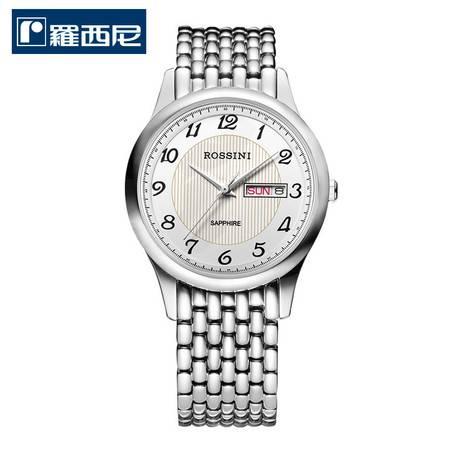 罗西尼(ROSSINI)手表 雅尊商务系列 不锈钢石英男表5355W01C