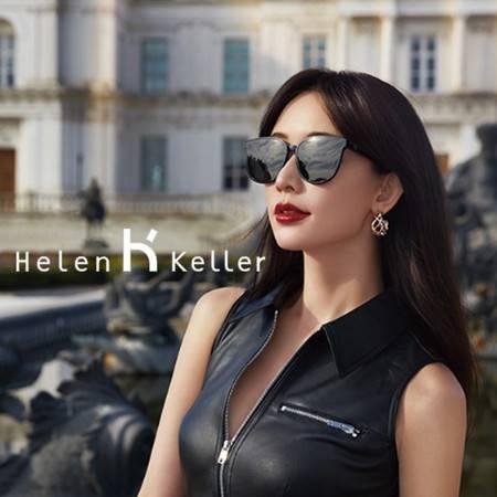 海伦凯勒 19新款 女士复古猫眼太阳镜 时尚潮流墨镜 女开车司机镜 偏光太阳镜