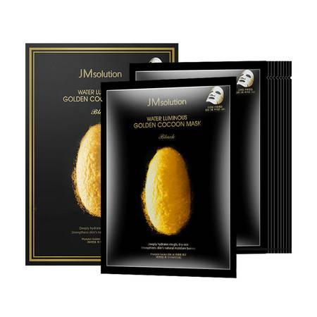 JMSOLUTION 韩国进口JM蚕丝面膜 肌司研蚕丝氨基酸 水肌焕肤男女学上 10片装正品