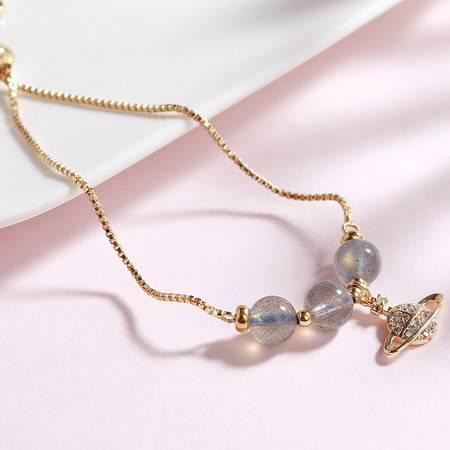 一生一石 月影环卫 月光石女生个性手链 时尚韩版气质迷人手链
