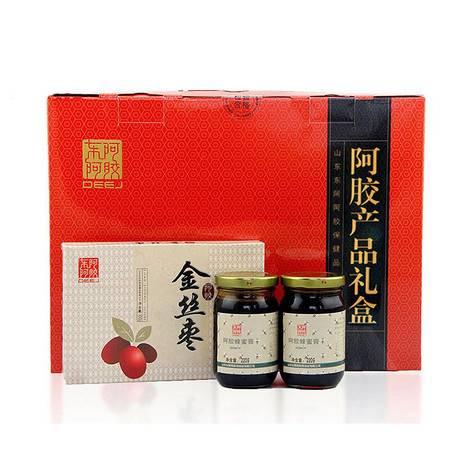 东阿阿胶 阿胶产品礼盒阿胶蜂蜜膏220g*4+阿胶金丝枣100g*2