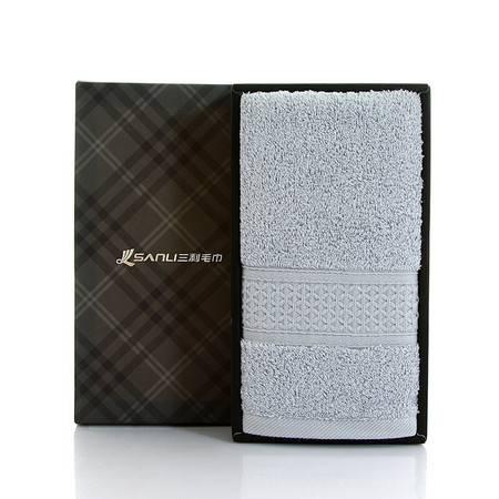 三利 纯棉臻品长绒棉毛巾一条 35*76cm 柔软吸水洗脸面巾 蓝色、米色可选