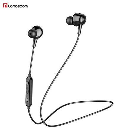 兰士顿 L17蓝牙耳机 挂脖式磁吸入耳式 黑色