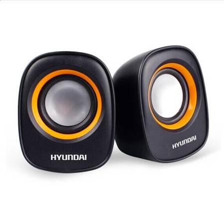 现代/HYUNDAI HY-66T音响 电脑迷你小音箱 笔记本电脑桌面有线Mini低音炮 黑色