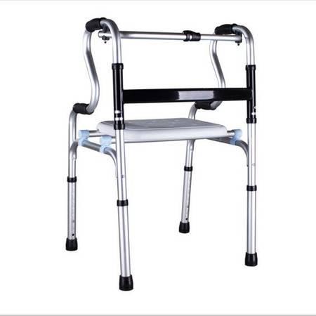 雅德 助行器加厚铝合金老人坐便椅可洗澡康复器材可折叠马桶椅 YC8209WYH不带轮不带坐便