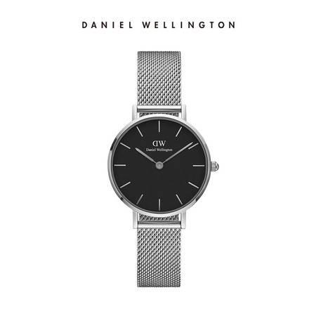 丹尼尔•惠灵顿 DW手表女银边金属表带28mm欧美简约学生时尚石英表DW00100218
