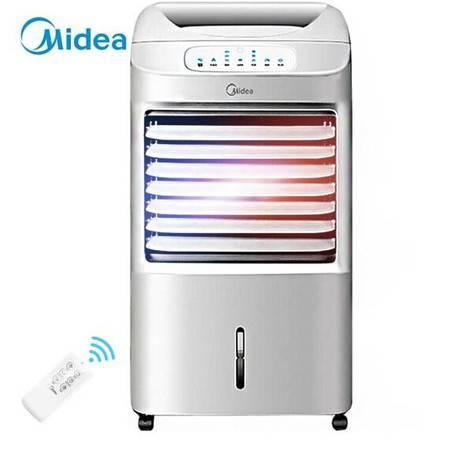 美的/MIDEA  冷暖两用空调扇冷风扇家用制冷机取暖器冷暖风机电暖气器遥控小空调省电AD100-U