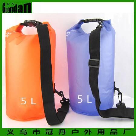 【浙江百货】PVC防水桶,漂流袋 游泳沙滩包户外背包收纳桶5L GD