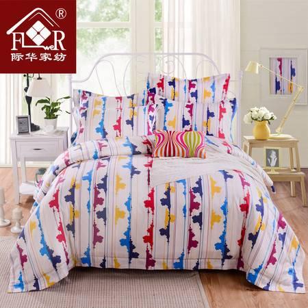 际华家纺 天丝棉提花印花四件套床品套件不起球不掉色-丽塔