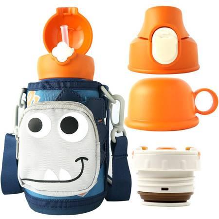 杯具熊 儿童保温杯带吸管儿童水杯316不锈钢保温儿童水壶630ml RT105-630