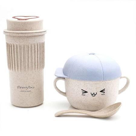 finsybo 麦秸秆爱心杯面碗套装