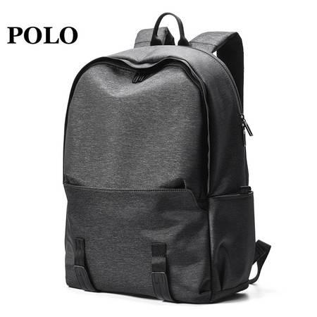 POLO 双肩包男士休闲旅行背包学生书包大容量时尚15.6英寸电脑包 090801125