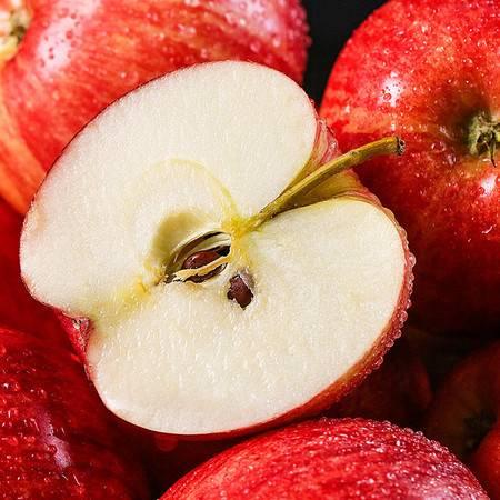西域美农洛川嘎啦苹果净重8斤新鲜水果