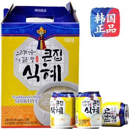 海太甘米汁韩国进口果汁饮料238毫升 12听装