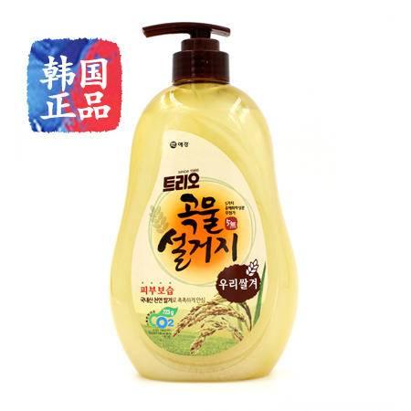 韩国进口正品 爱敬洗洁精 米糠 天然洗涤灵 洗碗液 大瓶装 723ml