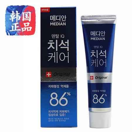 韩国国进口 爱茉莉麦迪安86% 美白牙膏 强效清除牙垢 去牙结石120g