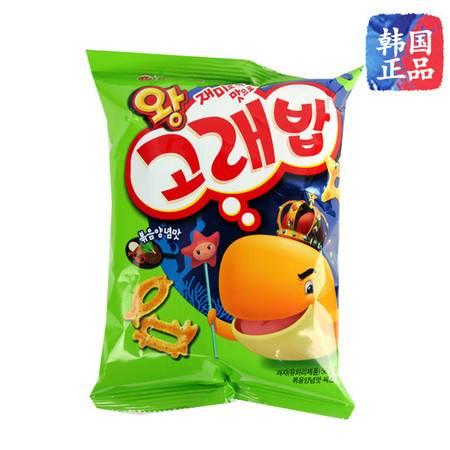 韩国原装进口 好丽友好多鱼虾条 儿童膨化休闲零食品 56g