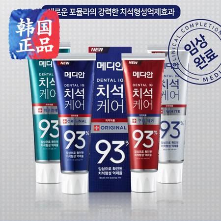 【包邮】韩国正品爱茉莉麦迪安93%牙膏 86%清新美白去烟渍去口臭 (1支)