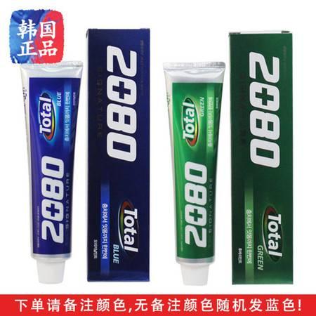 【包邮】韩国进口正品爱敬2080牙膏 12小时洁净牙膏 有效防蛀防虫牙150g