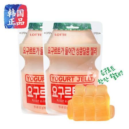 韩国食品进口零食乐天乳酸菌软糖50gQQ酸奶果味橡皮糖